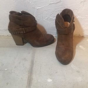 Heeled brown booties / worn only once